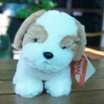 ตุ๊กตาหมาสีน้ำตาลขาว