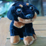 ตู๊กตาหมาสีดำ